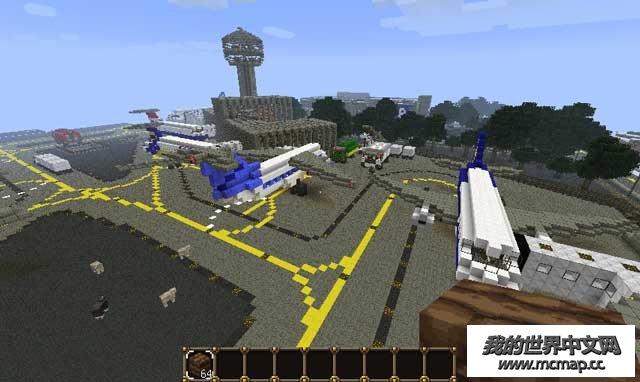 我的世界mc飞机场地图下载|附带配套材质精细机场设计
