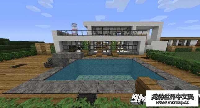 我的世界现代住宅地图下载 Mc海边连体别墅 房子设计图片
