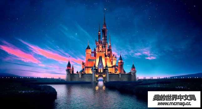 我的世界迪士尼城堡地图下载|mc城堡设计图存档下载