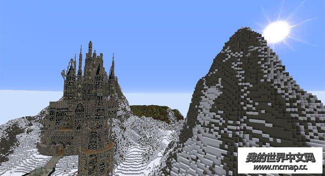 我的世界城堡设计图|mc雪花城堡地图下载